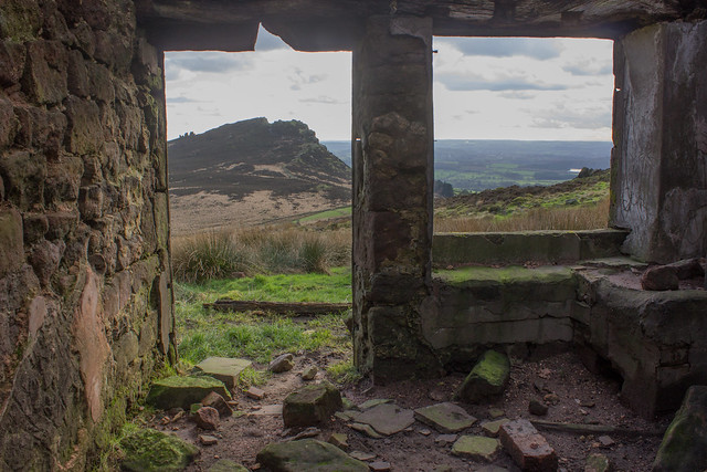 View from an abandoned house, The Roaches