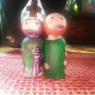 Rosie' s peg saints of Sts. Patrick and Joseph.