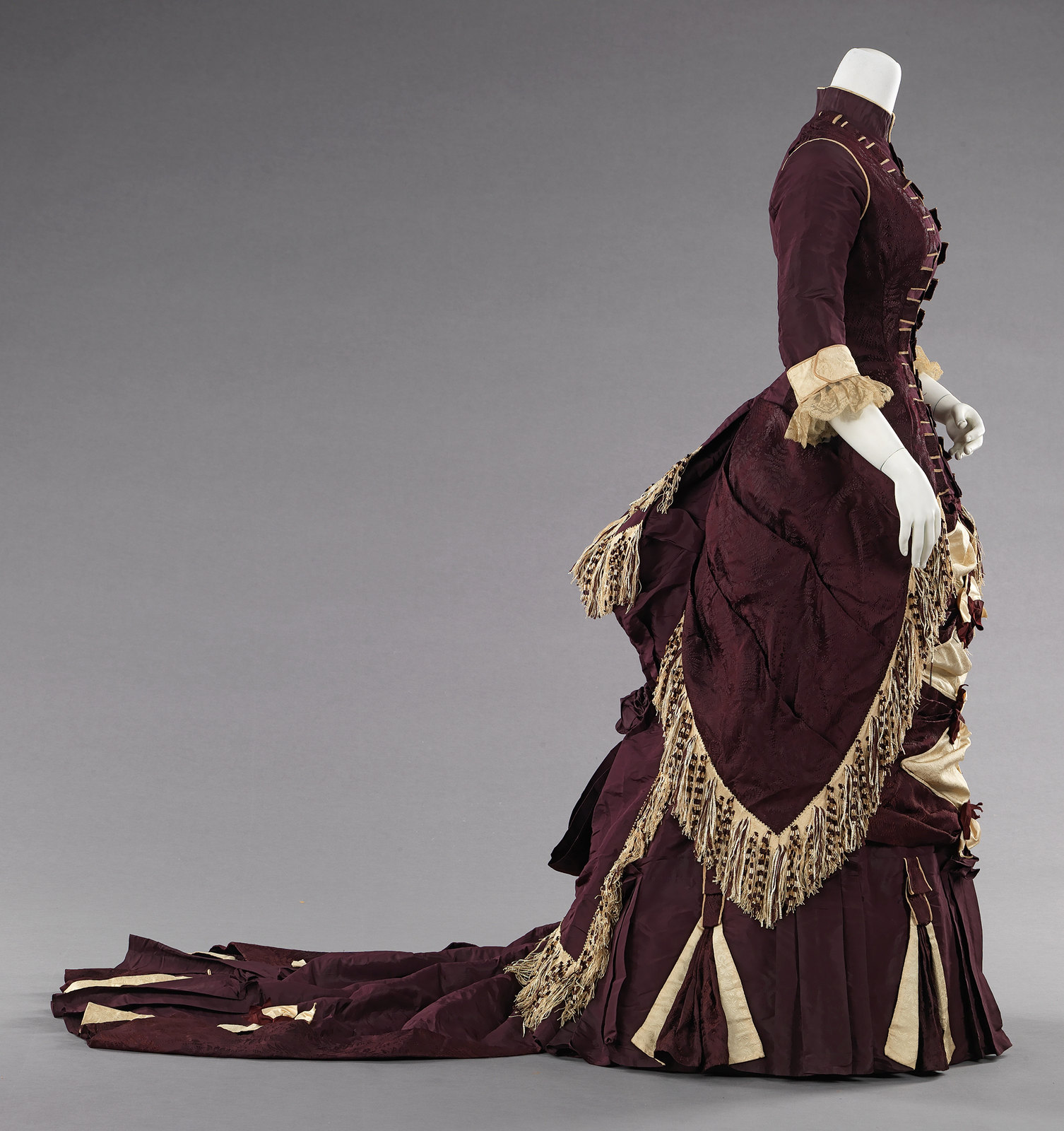 c. 1880. American. Silk, cotton. metmuseum