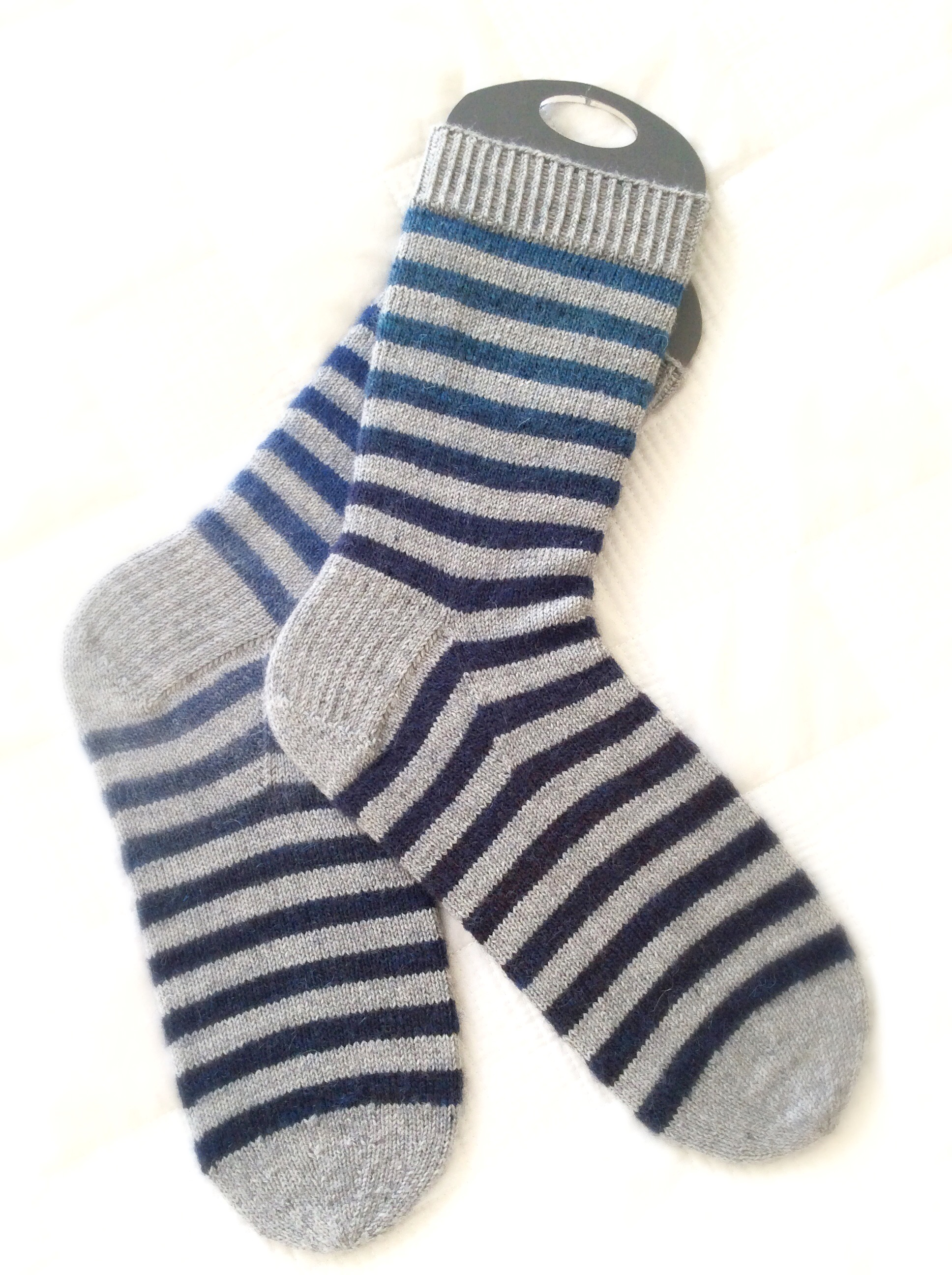 Gray and Blue Socks