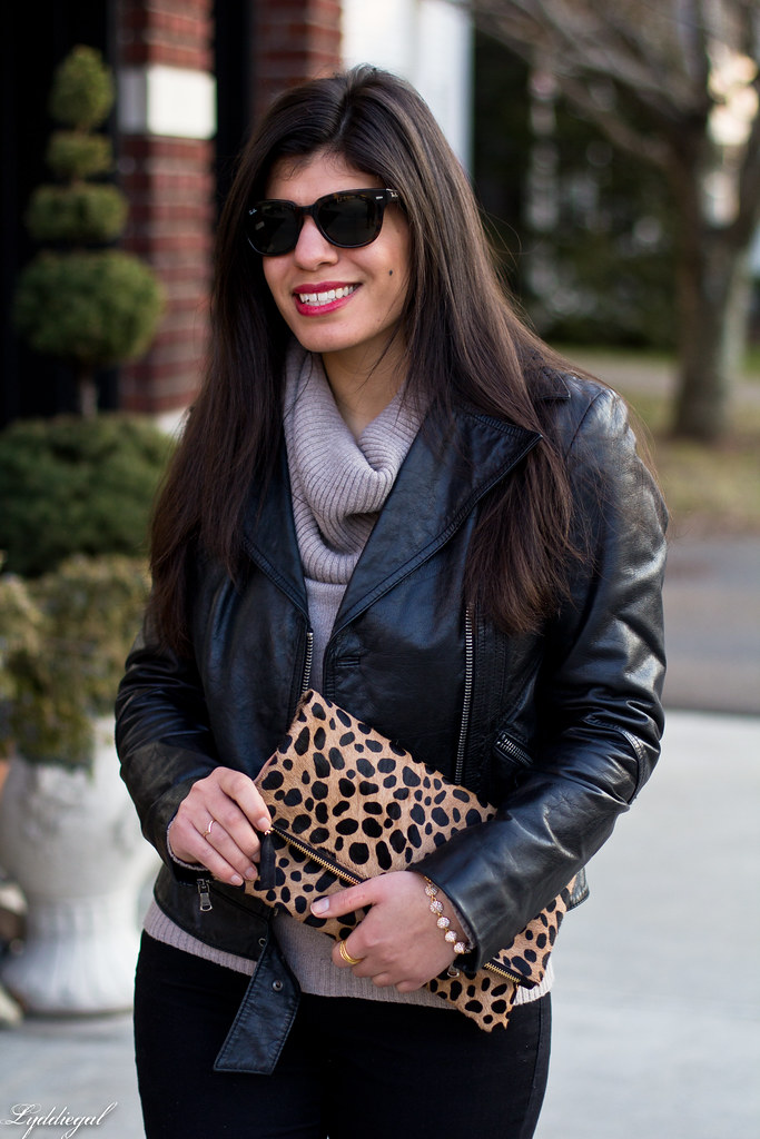 leather jacket, cowl neck sweater, leopard clutch-4.jpg