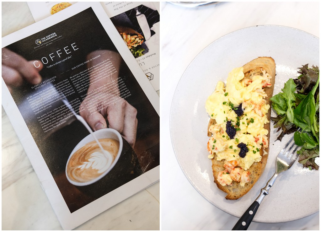 The Coffee Academics: Scrambled Eggs with Crayfish on the right