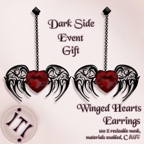 !IT! - Winged Hearts Earrings Image