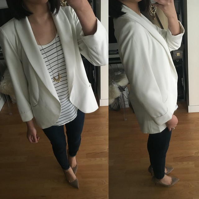 The Limited Soft Open Front Blazer