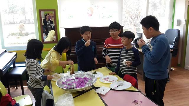 꽃향기 넘치는 교실 | 진달래 화전 부침