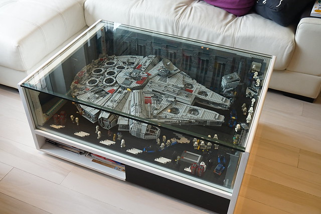 Falcon coffee table bricknerd your place for all for Table basse vitrine
