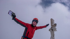 Piotr na szczycie Pizzo Malenco 3488m.