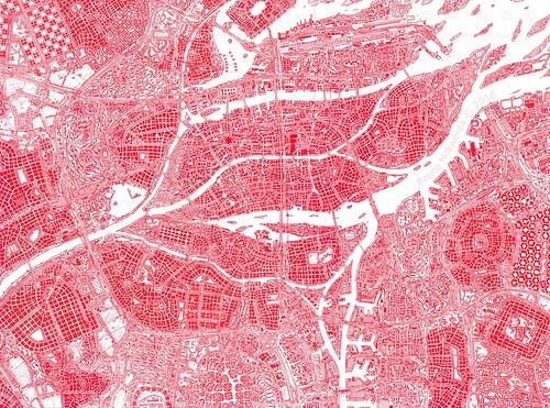 Imaginary city in a delta