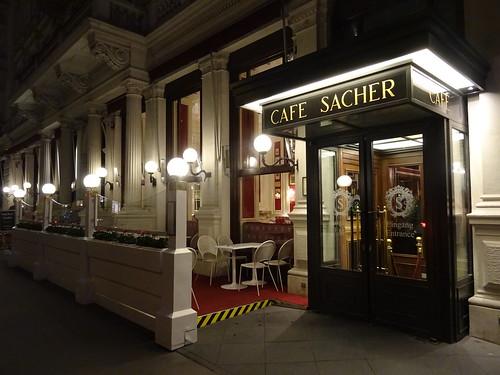 Wien, 1. Bezirk (the art of very renowned hotel buildings of Vienna), Philharmonikerstraße/Kärntner Straße (Hotel Sacher/Café Sacher)