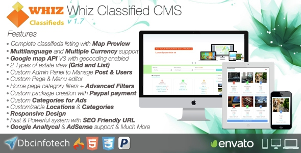 WhizClassified v1.7 - Classifieds CMS