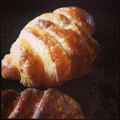 Croissants from scratch by Climber and his bestie. Delish. Talk about flexing your baking muscles, this process took two days.