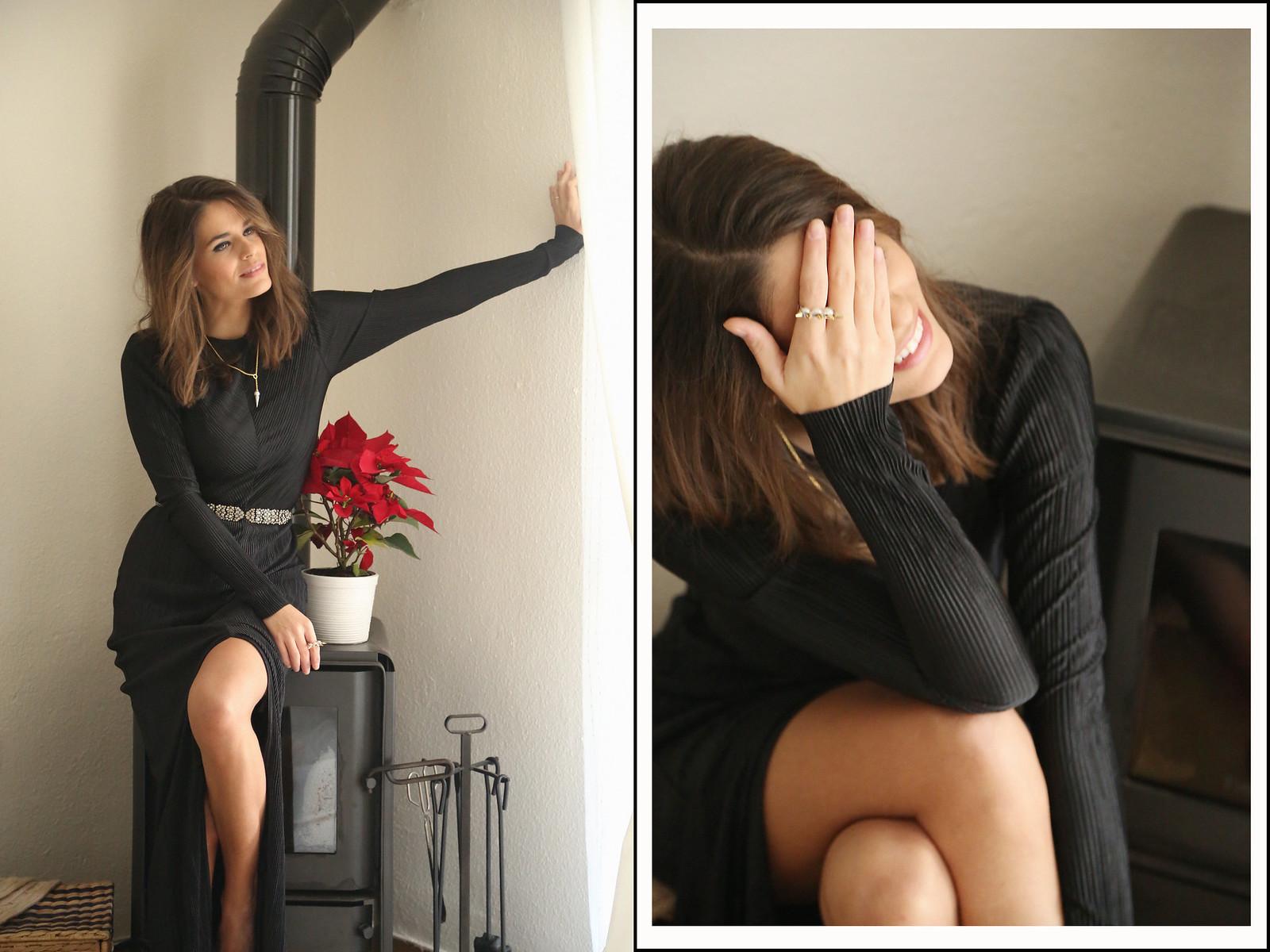 majorica joyas black long dress - jessie chanes 1