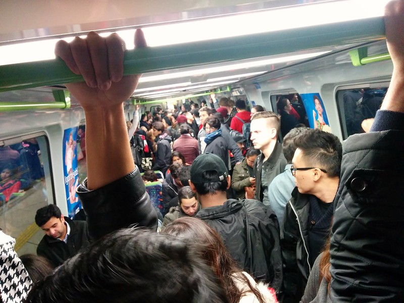 Packed Comeng train
