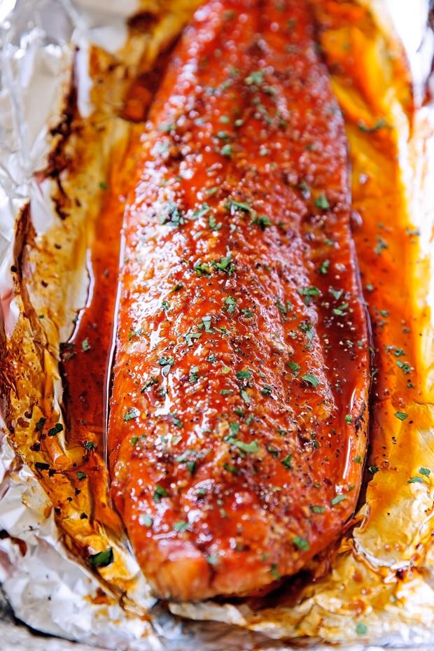 Firecracker baked salmon in foil recipe little spice jar for Baked fish in foil