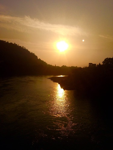 Sunset over the Ganges River