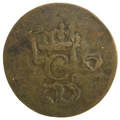 1798 Trinidad and TObago Copper 1 stampee reverse