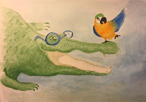 Crocodile and glasses