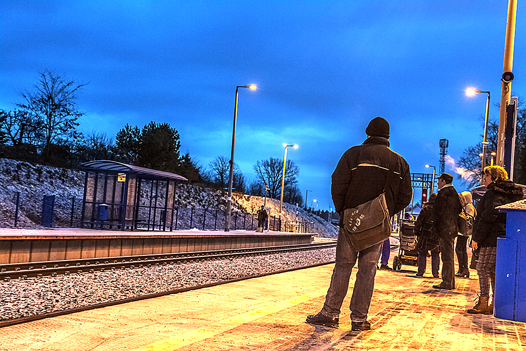 Train station at 7-36AM--Zgorzelec