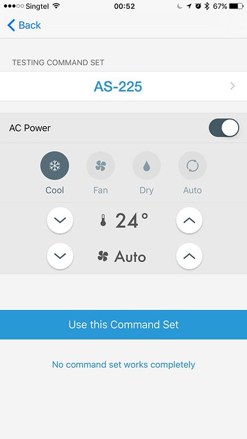 tado iOS App - AC Setup - Command Set Test