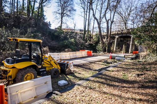 Repairs on Swamp Rabbit Trail