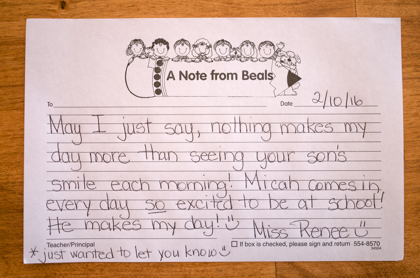 Micah School Note