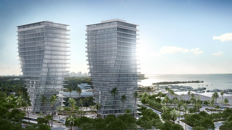 Небоскребы-близнецы в Майами Twisted Towers