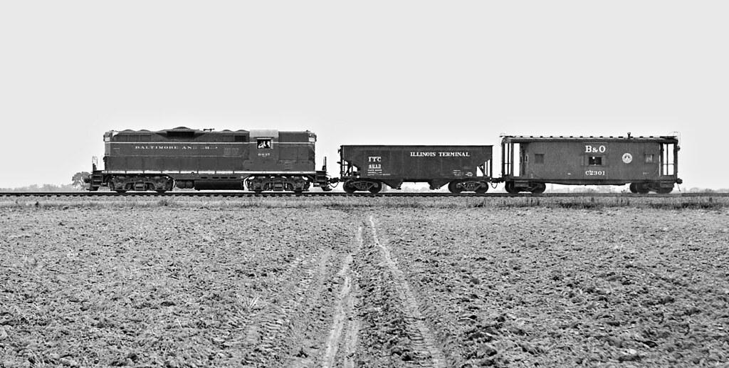 B&O, Odin, Illinois, 1957