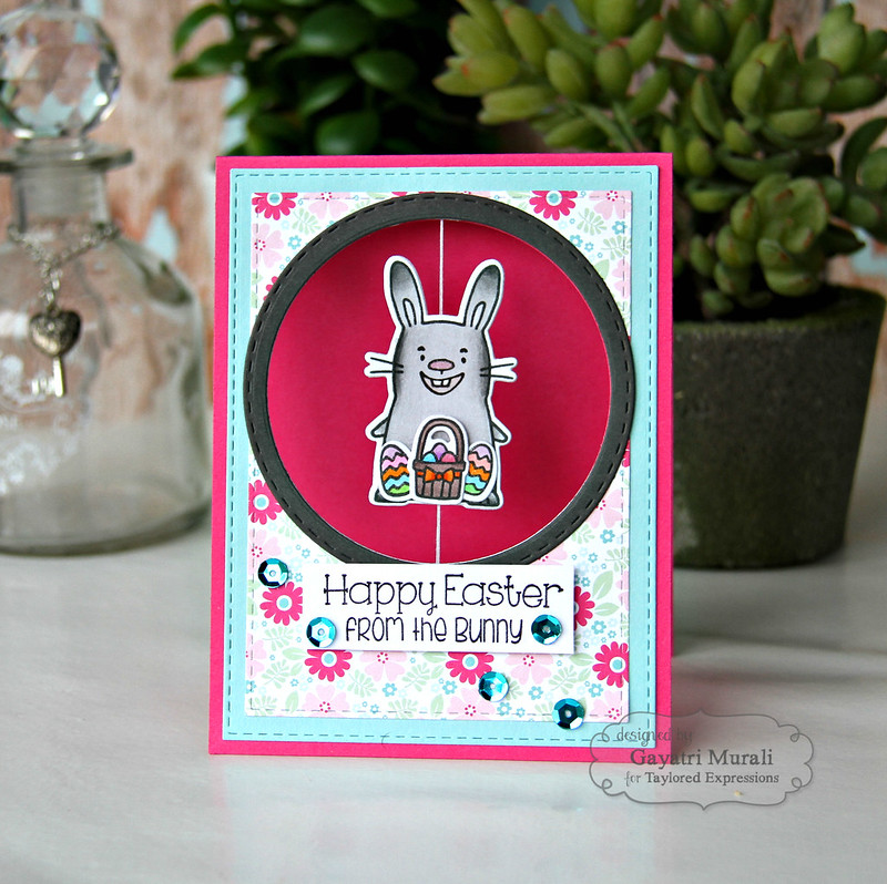 Happy Easter from bunny card