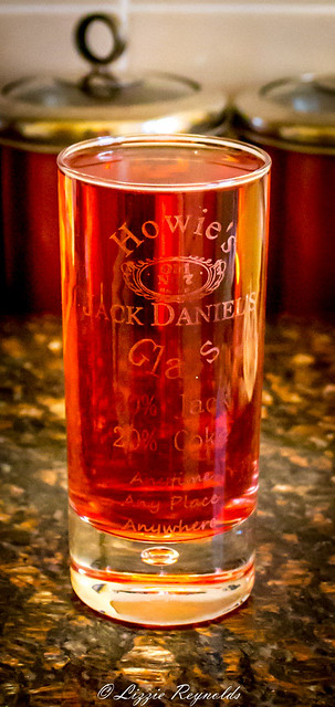 A special Jack Daniels glass.