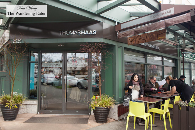 Exterior of Thomas Haas Kitsilano location