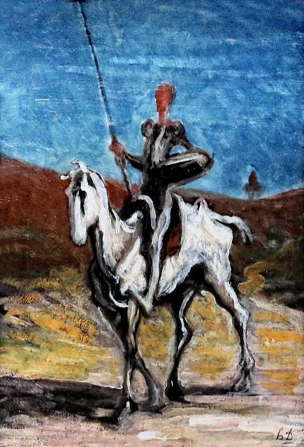IMG_0948A Honoré Daumier. 1808-1879. Paris. Don Quichotte.  Don Quixote. vers 1868. Munich. Neue Pinakothek.