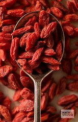 Goji Berries in Spoon
