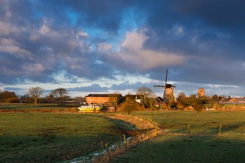 winter netherlands dutch sunrise nederland linge gelderland beesd betuwe