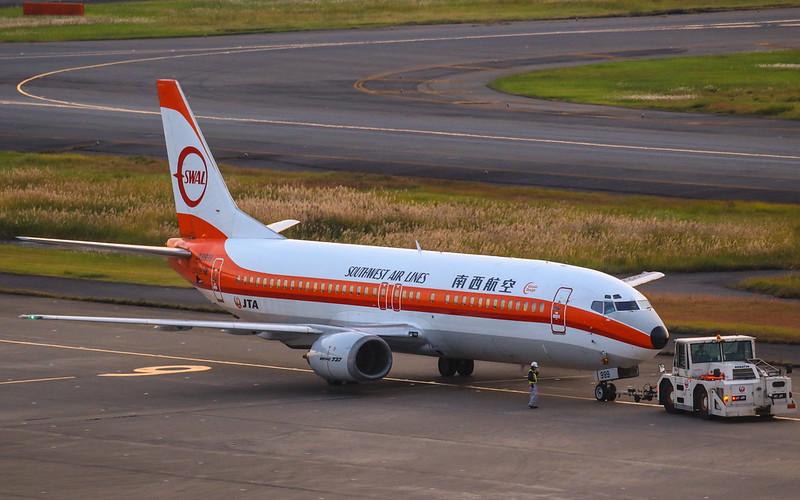 JA8999 南西航空塗装 日本トランスオーシャン航空 JTA 737-400