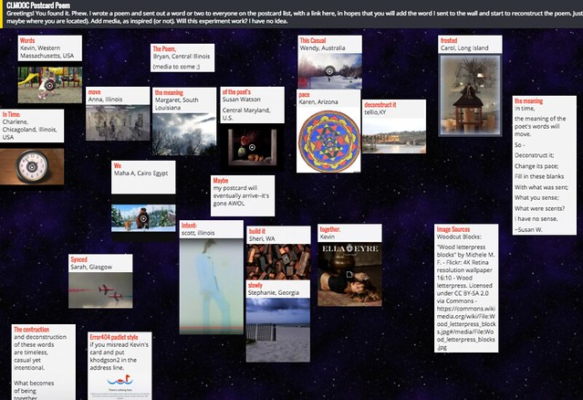 Postcard Poem Padlet Wall
