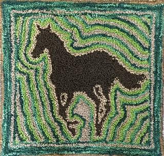 Needle Punch Horse Rug