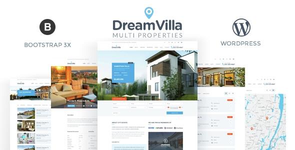 Themeforest DreamVilla v1.0 - Real Estate WordPress Theme