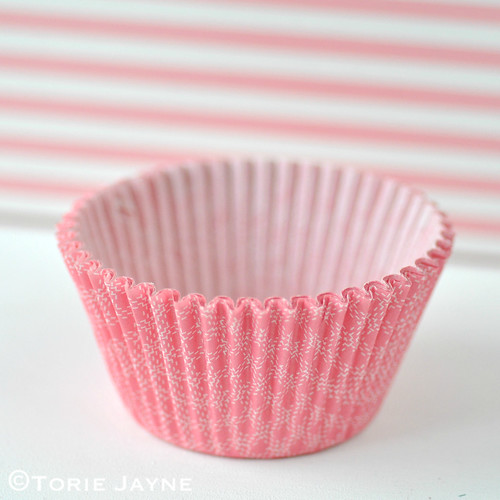 Pink Check Cupcake Cases
