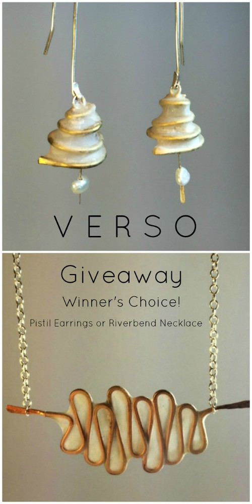 VERSO Jewelry Giveaway - Pistil Earrings or Riverbend Necklace
