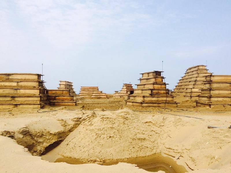 直擊!沙雕完工前的板模堆疊模樣,首度公開