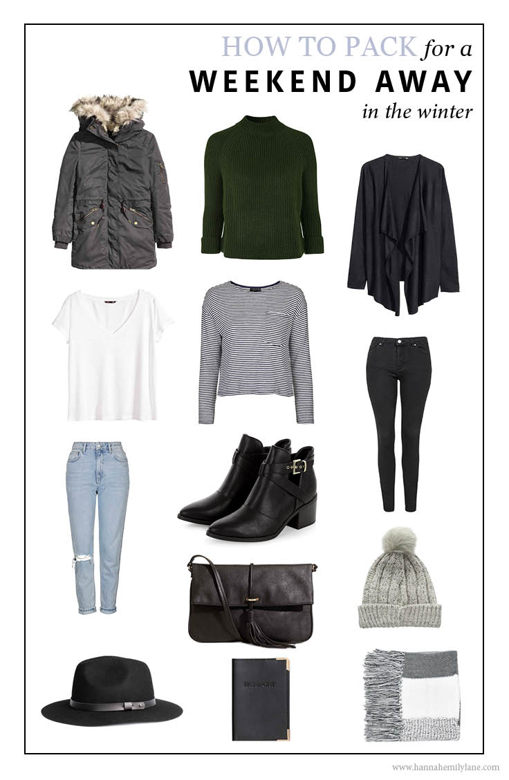 What to pack for a weekend away - Winter