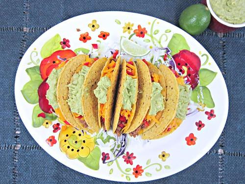 Spicy Beef Tacos with Guacamole