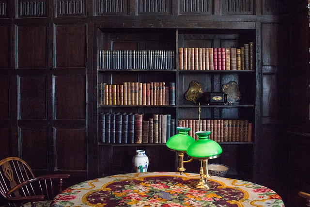 Boscobel House bookshelf
