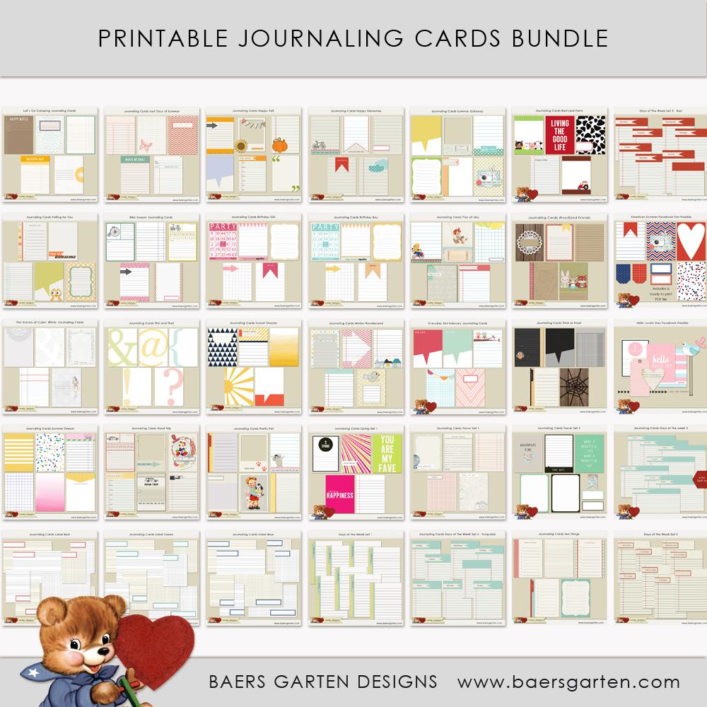 Journaling Cards Bundle