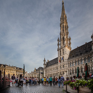 Image of Brussels Town Hall. street belgium bruxelles be