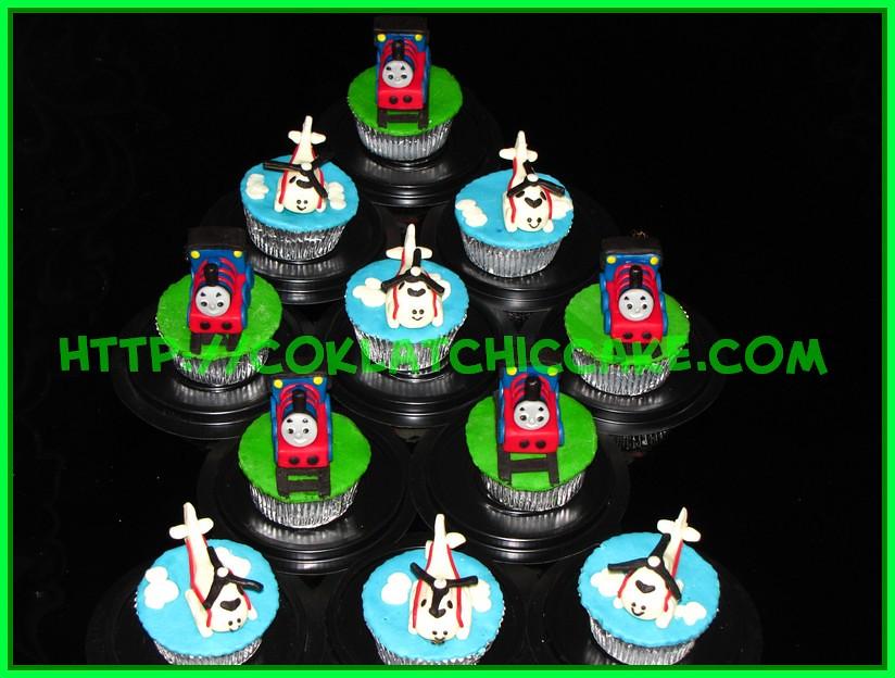 Cupcake Thomas dan Cupcake Harold