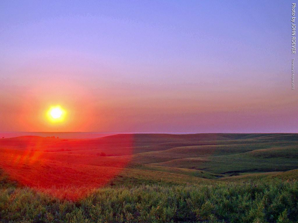 Kansas Flint Hills Wallpaper - Sun landscape evening august kansas prairie flinthills beforesunset 2015 wabaunseecounty sunsetroad august2015