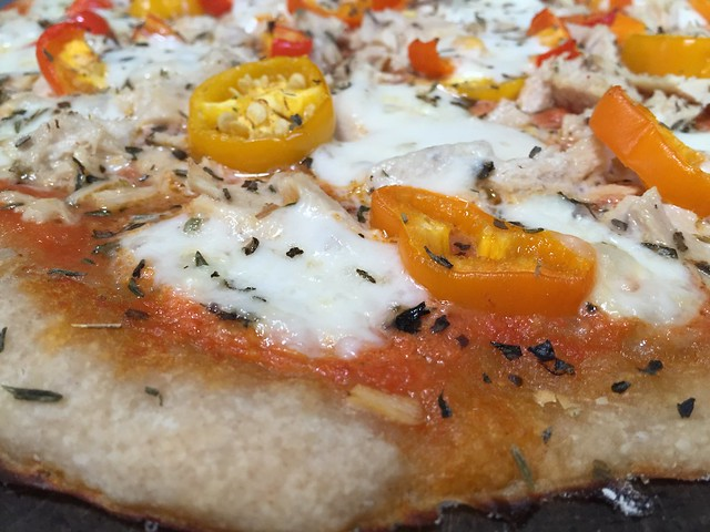 Albacore/Mini Sweet Peppers Pizza