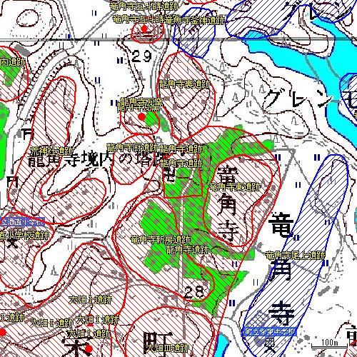 龍角寺遺跡マップ