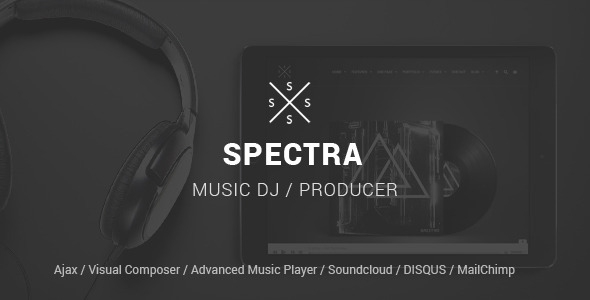 SPECTRA v1.5.4 - Responsive Music WordPress Theme